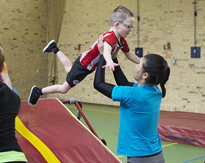 Ouder-kind gym bij ETV Olympia Turnvereniging Eindhoven